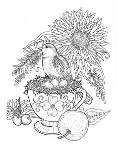 Leaf Coloring Page, Star Coloring Pages, Skull Coloring Pages, Coloring Pages For Girls, Free Printable Coloring Pages, Adult Coloring, Coloring Books, Vegetable Coloring Pages, Cup Tattoo