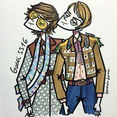 ❤️ My favorites from @gucci ss16 menswear @lallo25 #gucci #guccimen #mfw #milan #milano #alessandromichele #uomo #uomo #homem #homme #sketches #sketch #sketchoftheday #fashionsketch #sketchbook #draw #drawing #markers #ink #gerardolarrea #like #modamilano #milanfashionweek #italy #italia #schizzo #illustration #fashionillustration #illustrazione #menstyle #menswear