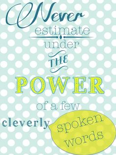 Cleverly Spoken Words Printable