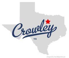 Map of Crowley Texas TX