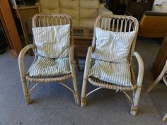 Two conservatory chairs ----------------- £5 each (pc191)