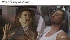 When Bucky wakes up... | captain America civil war | memes