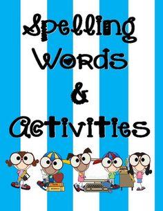 This fantastic download includes 41 weeks worth of spelling words/activities for your Kindergarten class.