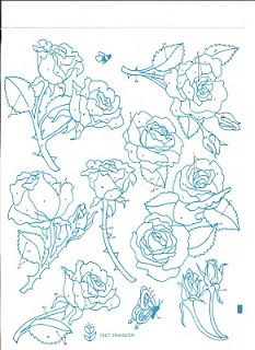 More amazing flower embroidery patterns