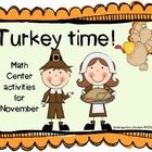 Turkey Time Math Centers - 45 pages that contain 3 full-size math center activities your kids will go head over heels for. perfect for K Teaching Kindergarten, Teaching Ideas, Homeschool Math, Homeschooling, Math Magic, Happy Turkey Day, Math School, Turkey Time, Math Centers