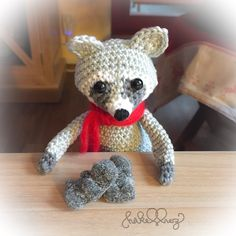 crochet racoon by haekelherz