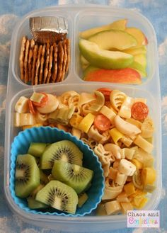 Spring is Here! Parents eat lunch, too! Italian pasta salad and kiwis in #EasyLunchboxes