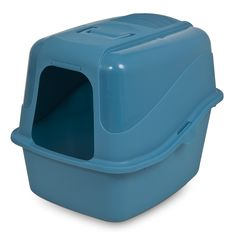 Petmate Kitty Komplete Jumbo Hooded Litter Pan and Hood, Peacock/Slate * You can find more details by visiting the image link. (This is an affiliate link) #Catlitterandhousebreaking