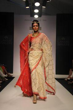 #Saree by Meera & Rohit's @RIVAAYAT http://www.facebook.com/rivayat at ongoing Lakme Fashion Week @LakmeFashionWk Winter-Festive 2012