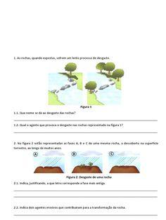 I'm reading Ficha Avaliação CN5 - rochas e solo.pdf on Scribd