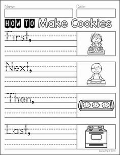 Writing Journal Prompts December. How to Make Cookies.