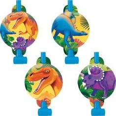 Check out Dinosaur Party Blowers (8-pack) - Low Priced Party Decorations from…