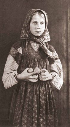 costume, old photo. Peasant girl in a headscarf, costume, old photo. Peasant girl in a headscarf, Vintage Photographs, Vintage Photos, Russian Culture, Russian Folk, Imperial Russia, Arte Popular, Russian Fashion, Folk Costume, British History