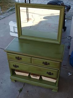 Amazing before and after pics of this dresser!