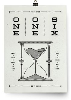 One One Six. Poster Designed by Tyler Deeb for Reach Records