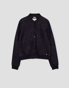 Faux suede bomber jacket - New - Woman - PULL&BEAR Greece