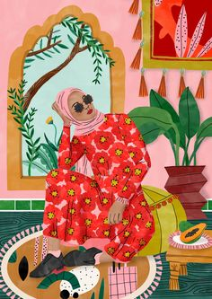 Illustration colorée et tendance d& femme marocaine par Bodil Jane – A. Colorful and trendy illustration of a Moroccan woman by Bodil Jane - At street corners Art And Illustration, Illustration Inspiration, Character Illustration, Watercolor Illustration, Magazine Illustration, Illustrations And Posters, Fashion Illustrations, Fashion Sketches, Art Inspo