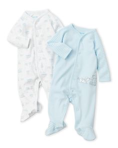 Little Me (Newborn/Infant Boys) Two-Pack Gentle Bodysuits