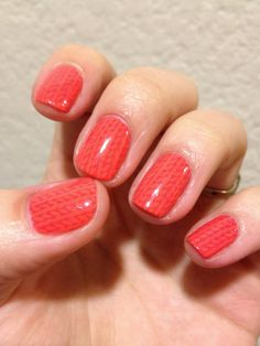 knitted nail stamp - VividLacquer