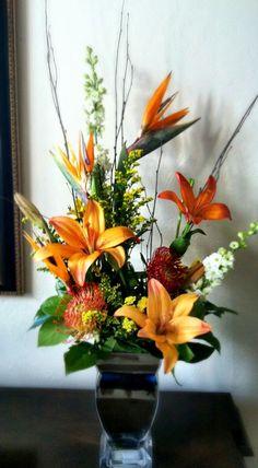Orange, fall arrangement
