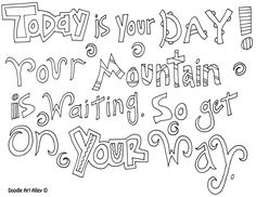 Motivational Quote Coloring Pages From Doodle Art Alley Free And Easy To Print