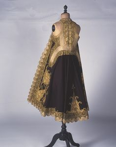 "Woman's ""doulamas"" coat also known as ""pirpiri"" from the region of Ioannina, Epirus. Epirus was ruled by the Ottomans for almost 500 years. Year 1900."