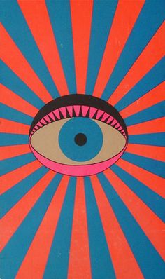 """The eye sun is watching you"" Illustration de l'artiste japonais Tadanori Yokoo Pop Art, Art And Illustration, Psychedelic Art, Tadanori Yokoo, Graffiti, Art Graphique, Grafik Design, Art Design, Interior Design"