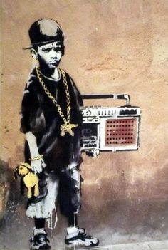 size: Giclee Print: Ghetto Boy by Banksy : This exceptional art print was made using a sophisticated giclée printing process, which deliver pure, rich color and remarkable detail. Banksy Images, Banksy Canvas Prints, Banksy Graffiti, Bansky, Boy Art, My Canvas, Cool Posters, Urban Art, Giclee Print