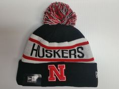 nebraska cornhuskers new era knit hat biggest fan beanie cuff pom stocking  cap from  20.0 8e974a65e3e1
