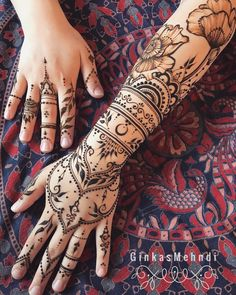 Erotic henna is a new form of art that celebrates the fememine body, highliting the natural beauty of women, usually done around the chest, belly, legs and back, it became popular when the work of the russian henna artist Mary Ginkas became viral on social media, here's a link to her Instagram so yo