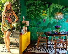 tropical decor + dining room