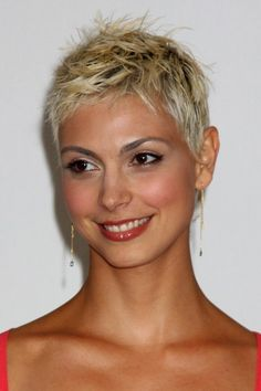 Extremely short pixie haircuts