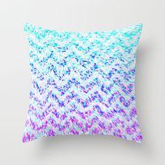 Chevron Splash Throw Pillow by M Studio