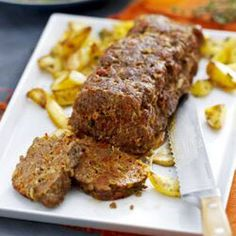 Air Fryer Meat Loaf - 4 portions - ground beef - on meat setting - 40 minutes - crunchy on outside Air Fryer Recipes Meatloaf, How To Cook Meatloaf, Air Fryer Oven Recipes, Air Fry Recipes, Gourmet Recipes, Cooking Recipes, Dinner Recipes, Nuwave Air Fryer, Ideas