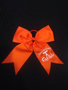 Tennessee Girl hair bow cheer ribbon by SherbrookeSeven on Etsy
