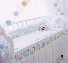 Baby Bed Bumper Four Ply Braid Weaving Plush Baby Crib Protector Infant Crib Bumper For Baby Room Decoration-. Baby Crib Bumpers, Baby Bumper, Cot Bumper, Baby Playpen, Baby Cribs, Baby Beds, Baby Bedroom, Baby Room Decor, Baby Bedding