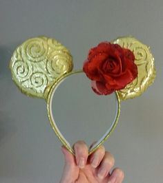 Handmade Mickey Ears - Belle! Many characters available.  Email deservingdresses@gmail.com
