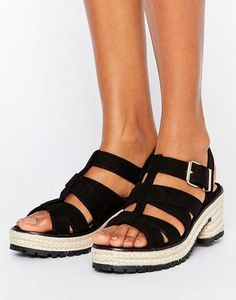 4a9288533 River Island Chunky Metallic Espadrille Sandals at asos.com