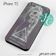 Triangle Wolf art Phone case for iPhone 4/4s/5/5c/5s/6/6 plus