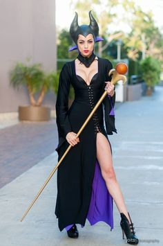 At Long Beach Comic Expo with LeeAnna Vamp as Maleficent cosplay! Photo by Joits Photography.