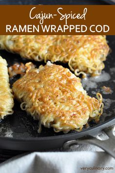 Take boring fish up a few notches by adding delicious cajun seasoning, and wrapping it in ramen noodles for some crunch…and fun!