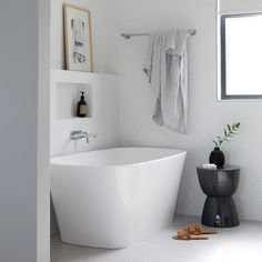 Minimalist styling & a neutral colour palette ensures this @victoria_albert_baths bathroom will always feel fresh & welcoming. The clean lines of the herringbone tiles coupled with the sleek design of the Vetralla bath create a timeless, calming feel making it the perfect place to relax. Speak to us today about creating your dream bathroom. #atlanticcompletecollection #atlanticbk #northdevon #bathroomsofinstagram #bathroomdesign #bathroominspiration #victoriaandalbertbaths Victoria And Albert Baths, Modern Farmhouse Bathroom, Modern Bathrooms, Contemporary Baths, Interiors Magazine, Herringbone Tile, Holiday Apartments, Neat And Tidy, Luxury Bath
