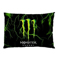 Monster Energy Custom Pillow Case Rectangle Pillow Cases two side