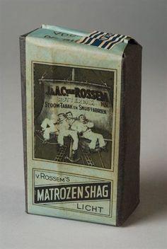 pakje tabak van Van Rossem, productnaam Matrozen Shag (licht)