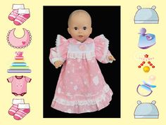 12 in baby doll nightgown / Melissa and Doug by kkdesignerdolls