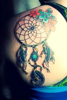 dream catcher tattoo in a traditional style