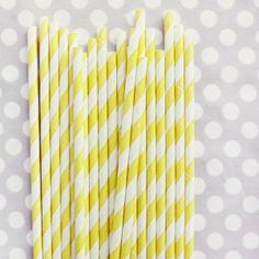 Cheap paper straws in all different colors/designs.  20 for $4.00!