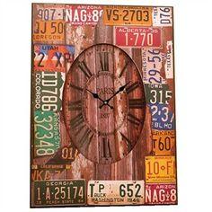 reloj pared matrículas