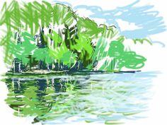Craig Longmuir, 'Blakemere', iPad drawing