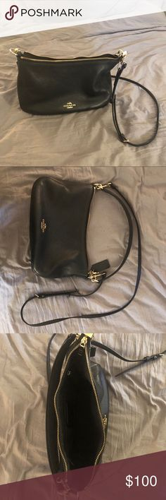 Coach purse (not sure the style) It's is a beautiful crossbody purse. I'm just trying to get rid of leather in my wardrobe. It does need to be cleaned up. The outside is a little dirty. And I got makeup on the inside 😭 there is also a very unnoticeable, unless you really look at it, razor thin cut across the front. I bought it like that and didn't notice. That's why the price is low. Hope I can give this beauty a good home ❤️ Coach Bags Crossbody Bags #crossbodypurse